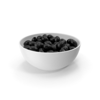 Black Olives Without Seeds In Ceramic Bowl PNG & PSD Images