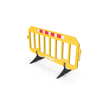 Traffic Crowd Barrier Yellow PNG & PSD Images
