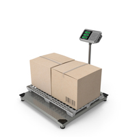Warehouse Scale with Plastic Pallet and Parcels PNG & PSD Images