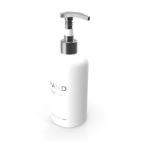 White Cosmetic Pump Bottle PNG & PSD Images