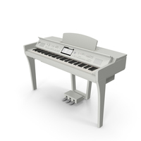 White Professional Digital Piano PNG & PSD Images