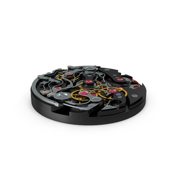 Watch Mechanism Black PNG & PSD Images
