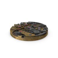 Watch Mechanism Brass PNG & PSD Images