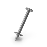 Concrete Nail With Washers PNG & PSD Images