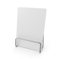 White Desk Paper Banner with Steel Stand PNG & PSD Images