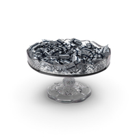 Fancy Crystal Bowl with Wrapped Small Candy Bars PNG & PSD Images