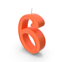 Candle Number 6 No Light PNG & PSD Images