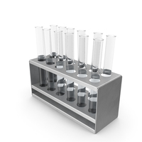 Rack with Test Tubes PNG & PSD Images