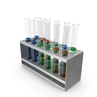Rack with Random Test Tubes PNG & PSD Images