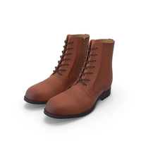 Leather Work Boots Colors PNG & PSD Images