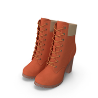 Women's 6-Inch Orange Boots PNG & PSD Images
