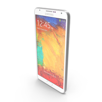 Samsung Galaxy Note 3 White PNG & PSD Images