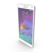 Samsung Galaxy Note 4 Frosted White PNG & PSD Images