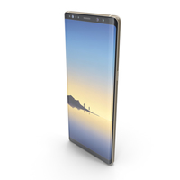 Samsung Galaxy Note 8 Maple Gold PNG & PSD Images