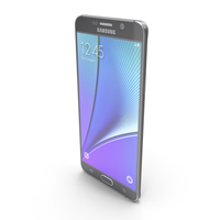 Samsung Galaxy Note5 Black Sapphire PNG & PSD Images