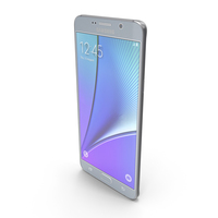 Samsung Galaxy Note5 Silver Titan PNG & PSD Images