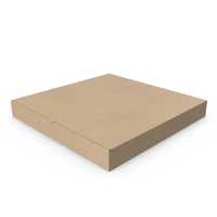 Pizza Box Kraft Paper 14 inch PNG & PSD Images