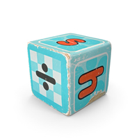 Cyan Wooden Block PNG & PSD Images