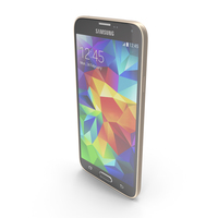 Samsung Galaxy S5 Gold PNG & PSD Images