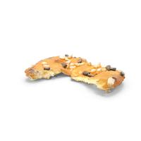 Sesame Pretzel Thin Cracker Bitten PNG & PSD Images