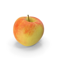 3D Scan of Red Apple PNG & PSD Images