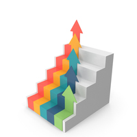Graph with Stairs Arrows PNG & PSD Images