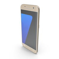 Samsung Galaxy S7 Gold PNG & PSD Images
