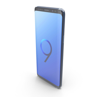 Samsung Galaxy S9 Coral Blue PNG & PSD Images