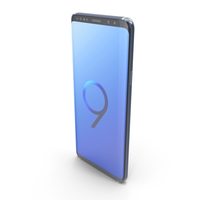 Samsung Galaxy S9 Plus Coral Blue PNG & PSD Images