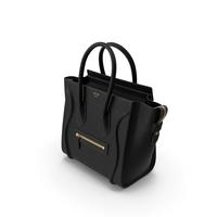 Celine Luggage Black Handbag PNG & PSD Images