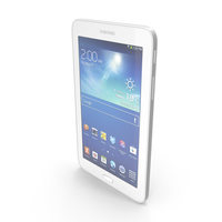 Samsung Galaxy Tab 3 Lite 7.0 & 3G White PNG & PSD Images