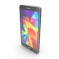 Samsung Galaxy Tab 4 7.0, 3G and LTE Black PNG & PSD Images