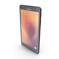 Samsung Galaxy Tab A 8.0 (2017) Black PNG & PSD Images
