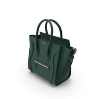 Celine Luggage Handbag Green PNG & PSD Images