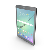 Samsung Galaxy Tab S2 9.7 Black PNG & PSD Images