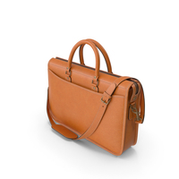 Marston Briefcase In Caramel Leather PNG & PSD Images