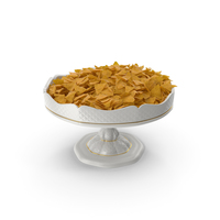 Porcelain Bowl with Nacho Chips PNG & PSD Images