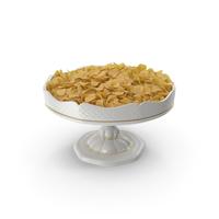 Fancy porcelain bowl with potato chips PNG & PSD Images