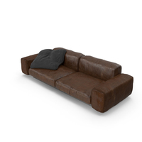 Couch (Leather/Aged) PNG & PSD Images