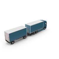 Tandem Euro Semi Truck PNG & PSD Images
