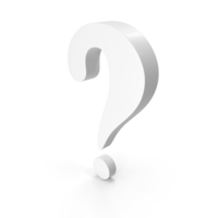 Question Mark White PNG & PSD Images