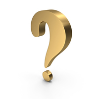 question mark Gold PNG & PSD Images