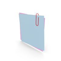 Papers With Paper Clip PNG & PSD Images