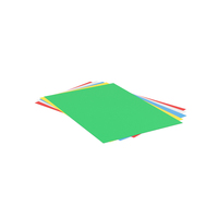 Colored Papers Stack PNG & PSD Images