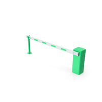 Automatic Road Barrier Green PNG & PSD Images