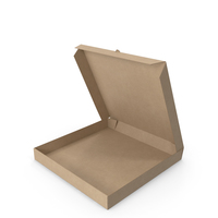 Pizza Box Kraft Paper 14 inch Open PNG & PSD Images
