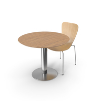 Shell Chair and Table PNG & PSD Images
