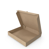 Pizza Box Kraft Paper Rectangle Open PNG & PSD Images