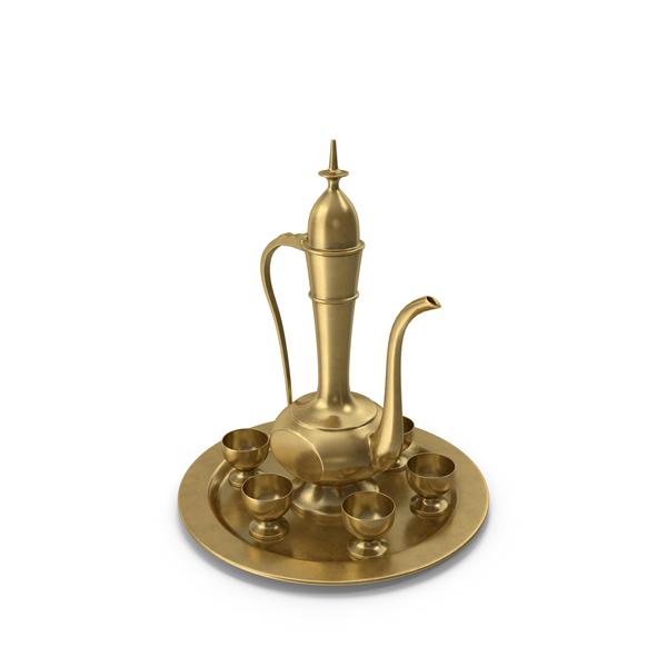 Dallah Tea Set PNG & PSD Images