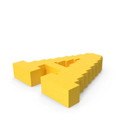Stylised Cartoon Voxel Pixel Art Letter A on Ground PNG & PSD Images